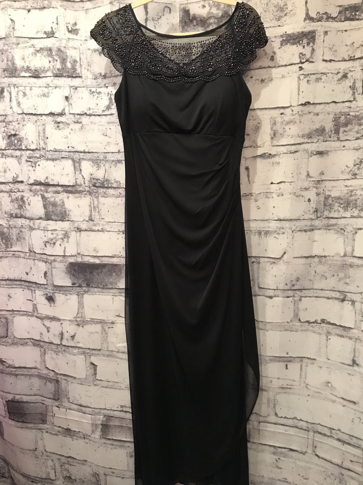 MOB - NAVY LONG EVENING GOWN