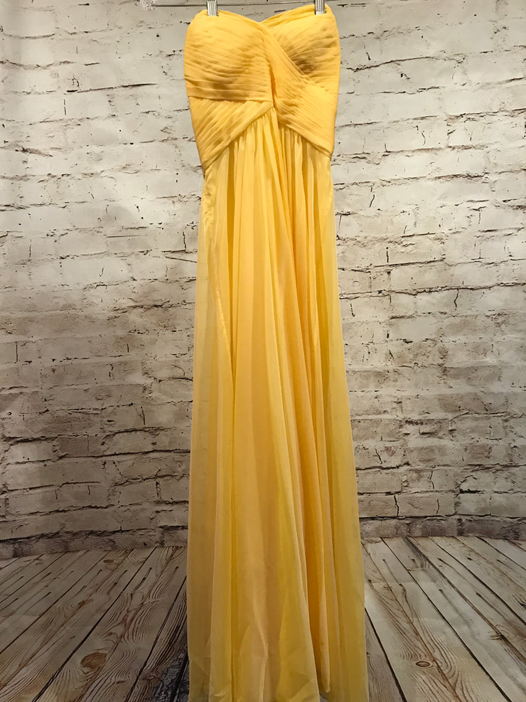 YELLOW LONG EVENING GOWN