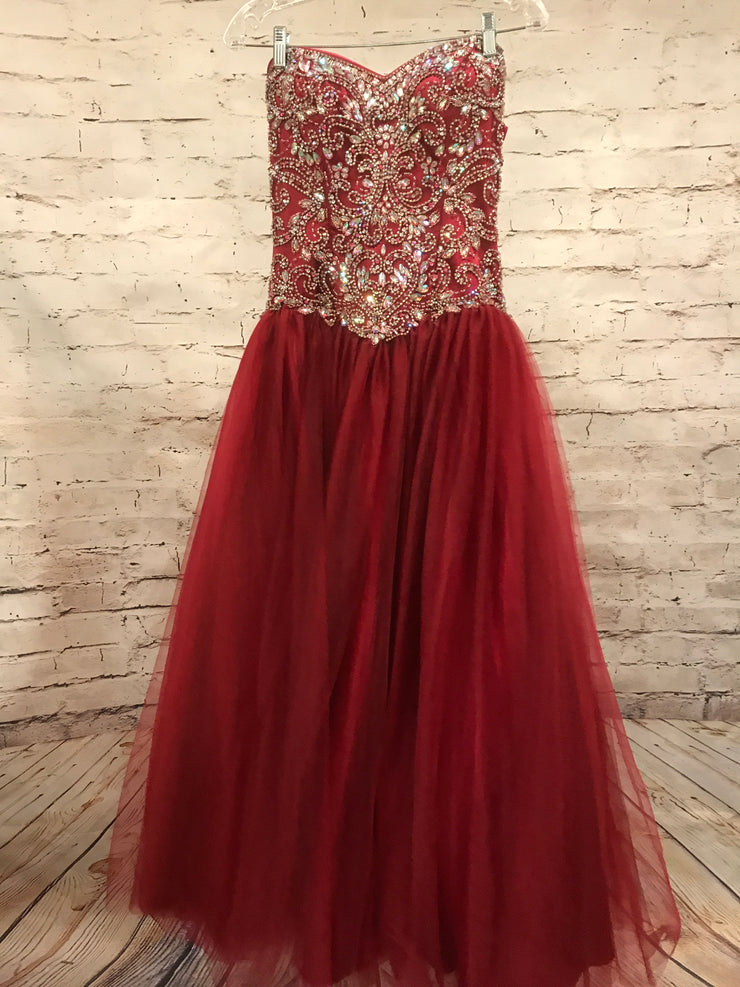 BURGUNDY PRINCESS GOWN