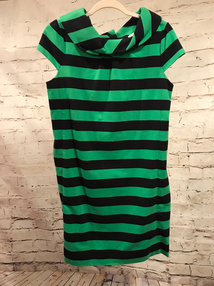 GREEN/BLACK STRIPED DRESS $398