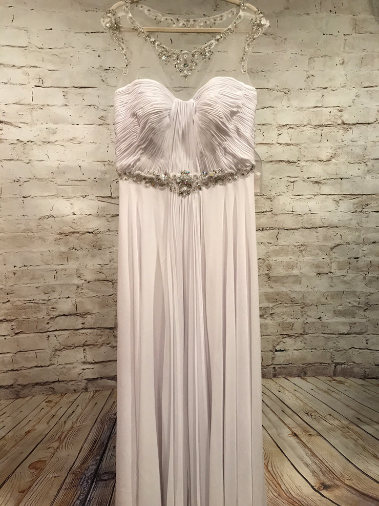 NEW - WHITE LONG EVENING GOWN