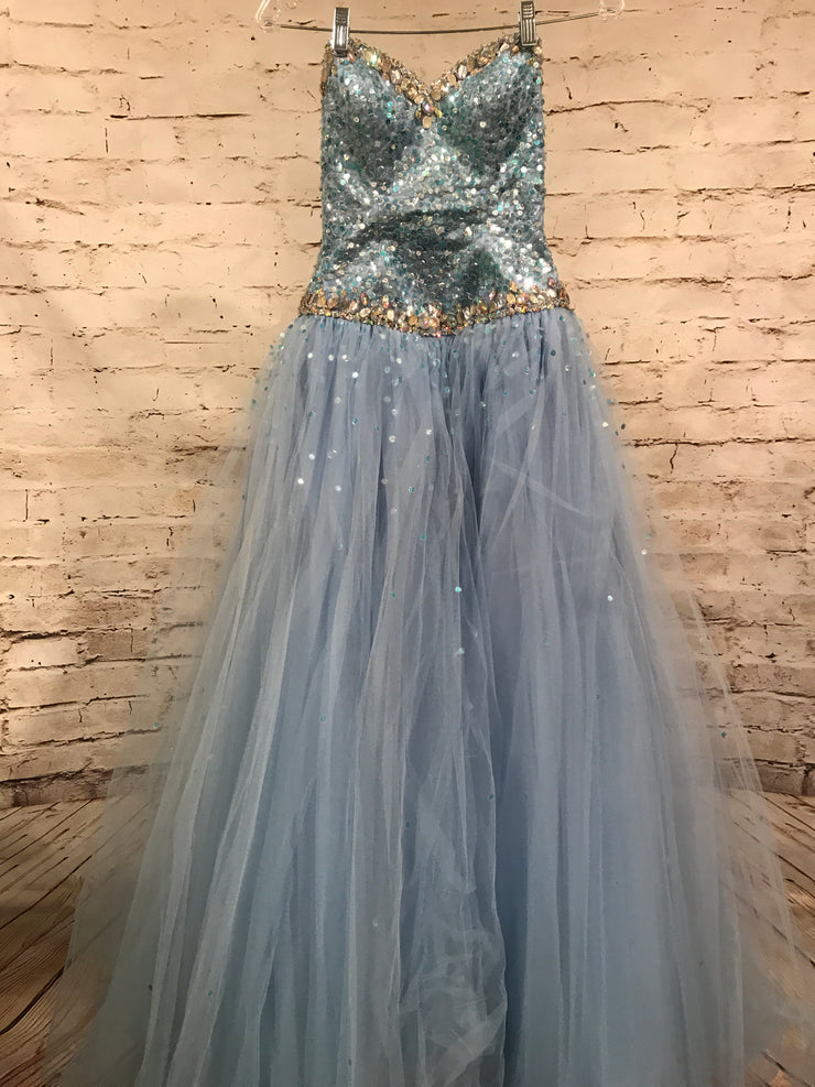 LIGHT BLUE PRINCESS GOWN