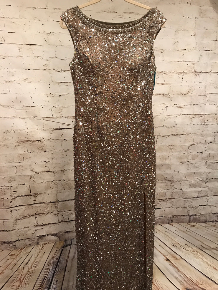 GOLD FULL SEQUIN LONG DRESS