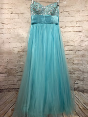 LT. BLUE A LINE GOWN