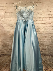 LT. BLUE TAFFETA PRINCESS GOWN