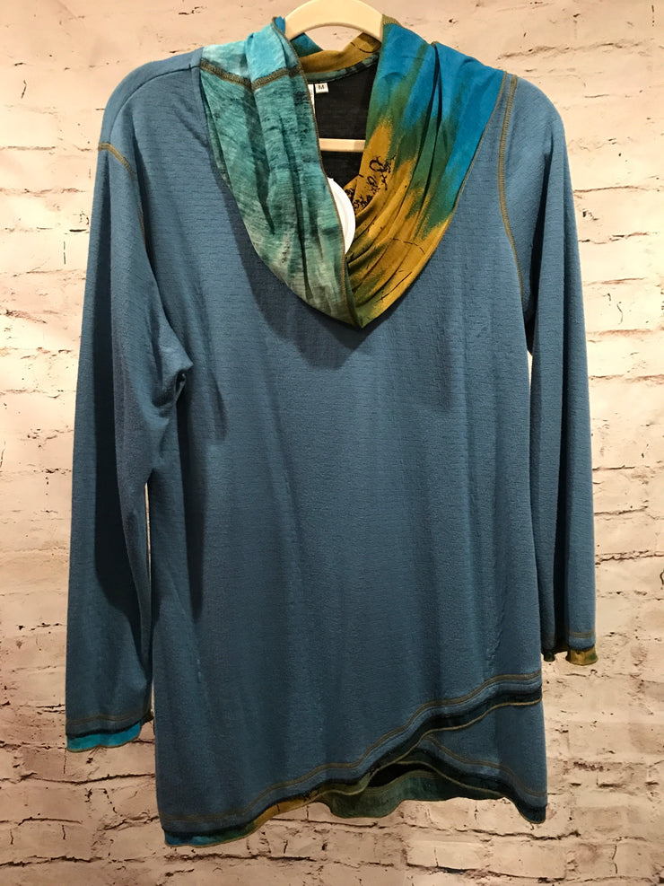 NEW - BLUE/TURQUOISE TUNIC $75