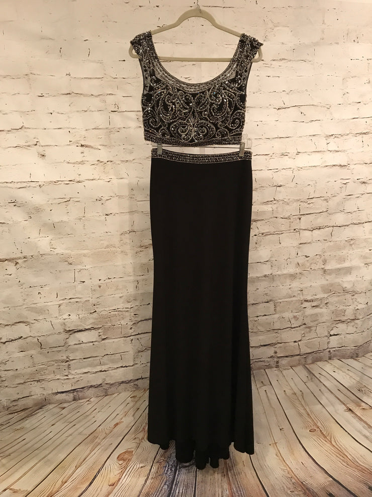 BLACK 2 PC. LONG DRESS SET