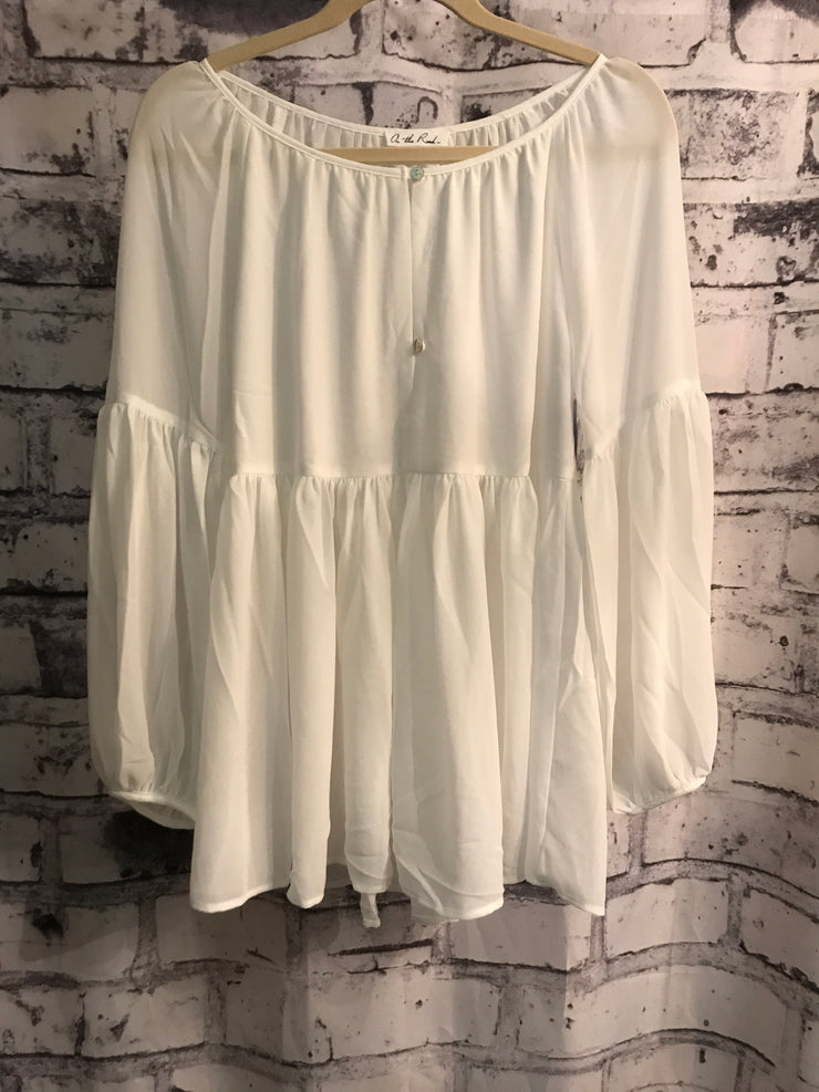 NEW - IVORY LONG SLEEVE BLOUSE