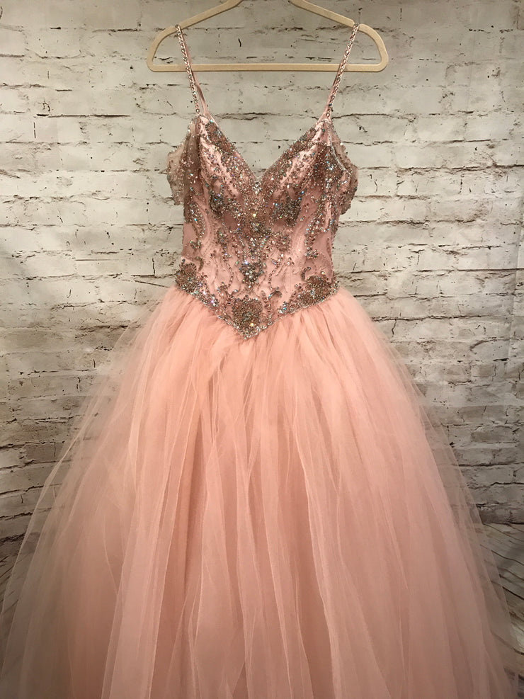 LIGHT PINK OFF SHOULDER GOWN