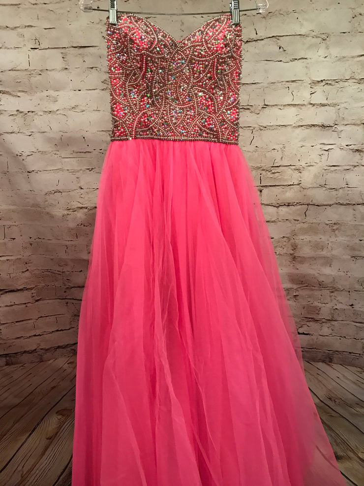 PINK BEADED TOP PRINCESS GOWN