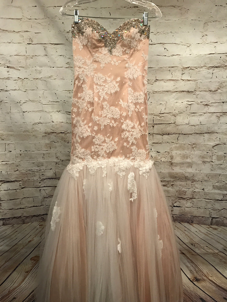 NEW - IVORY/TAN MERMAID GOWN