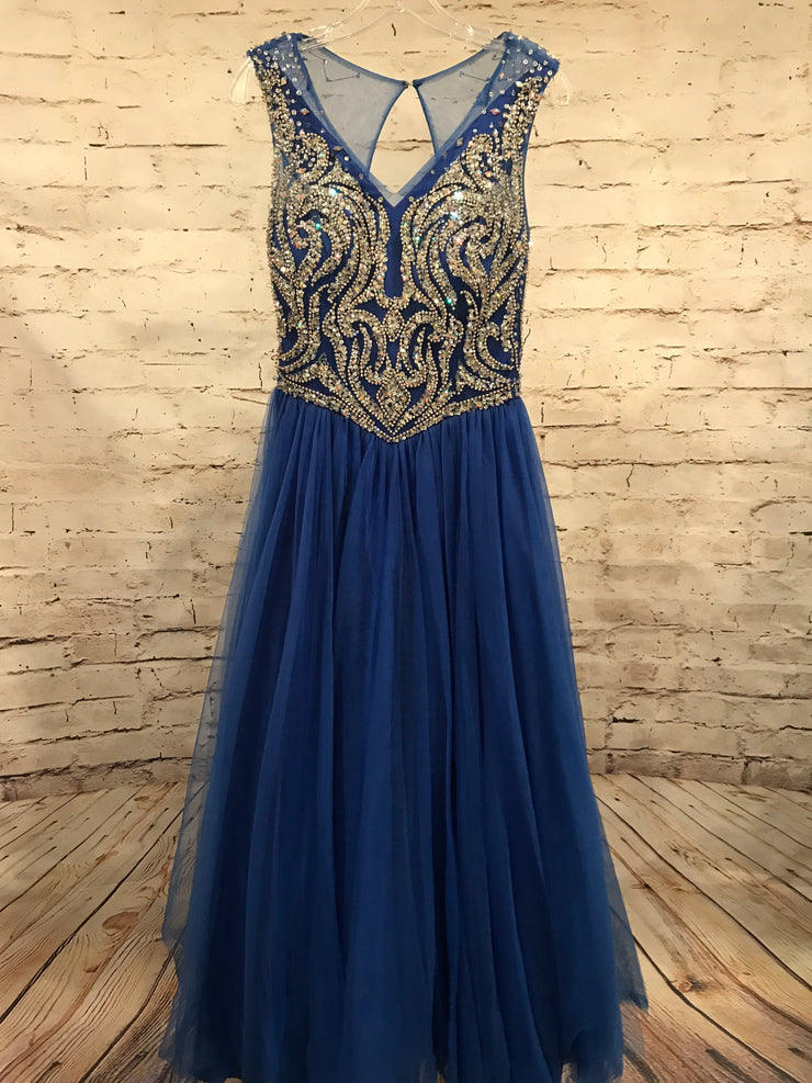 ROYAL BLUE PRINCESS GOWN
