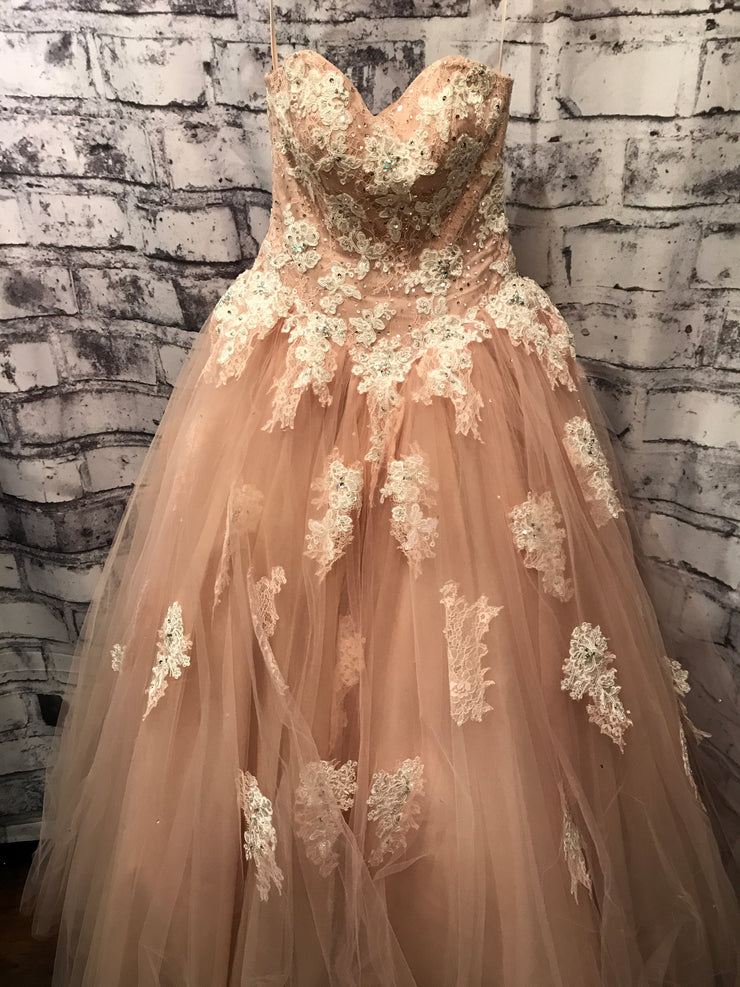 IVORY/TAN PRINCESS GOWN