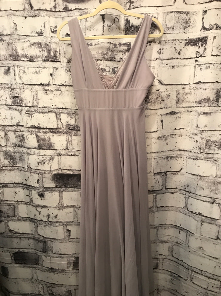 GRAY/LAVENDER LONG GOWN