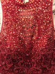 BURGUNDY 2 PC. MERMAID GOWN