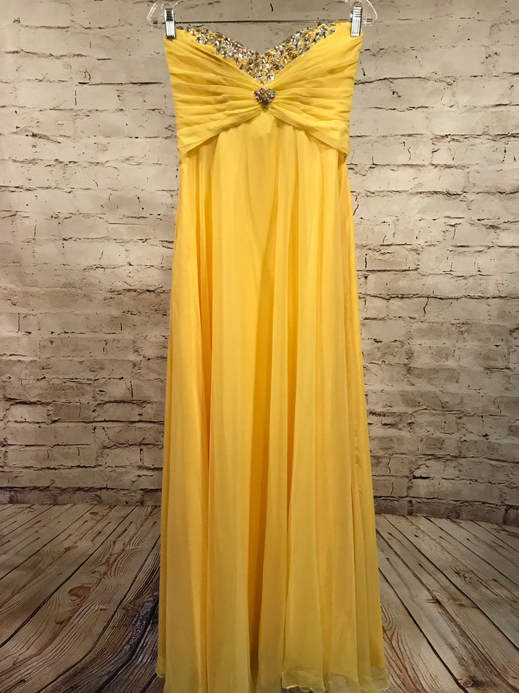 YELLOW EVENING GOWN (NEW)