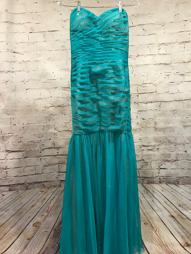TURQUOISE MERMAID GOWN (NEW)
