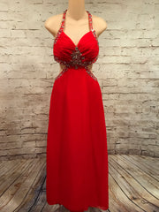 RED LONG EVENING GOWN