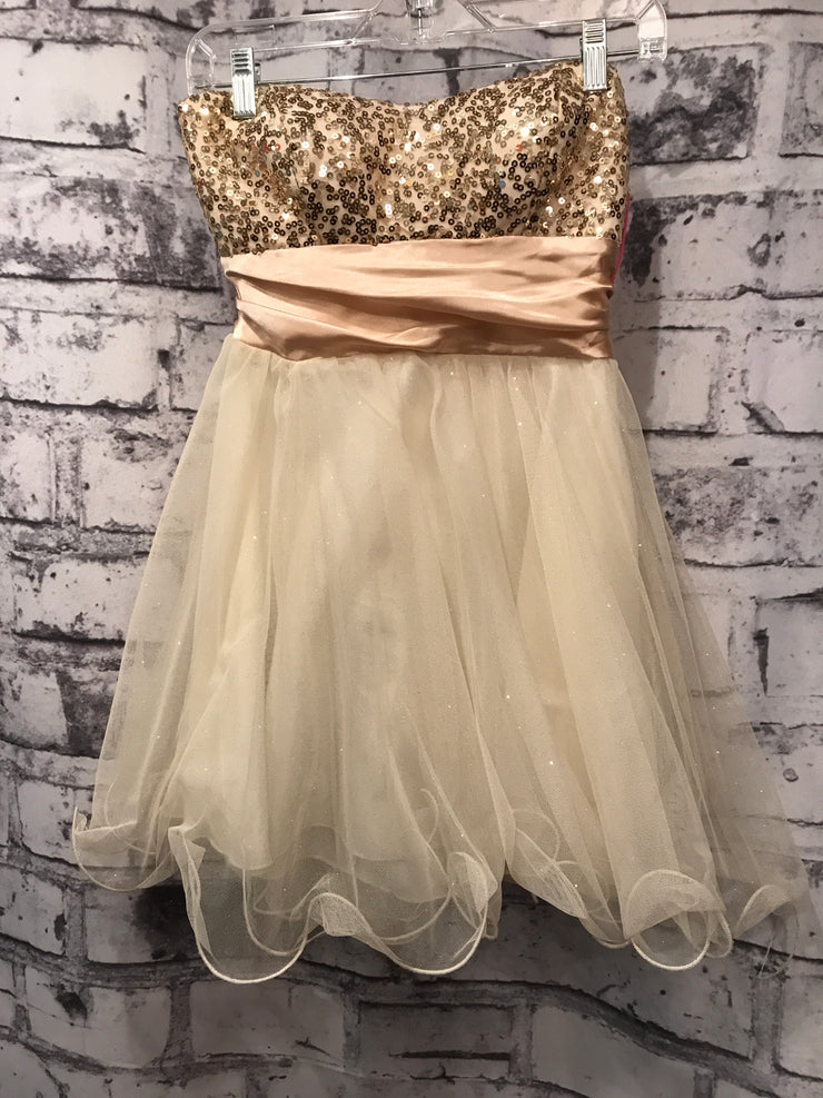 GOLD/IVORY SHORT DRESS