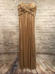GOLD LONG EVENING GOWN
