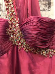 NEW - PINK LONG EVENING GOWN