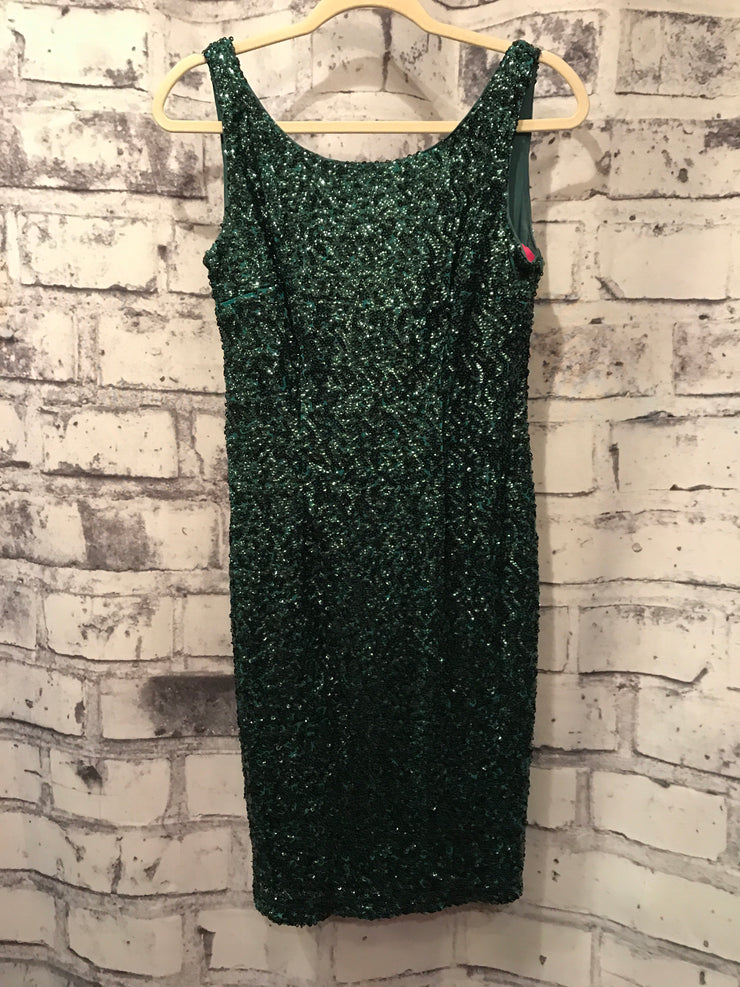 GREEN FULL SEQUIN SHORT DRESS