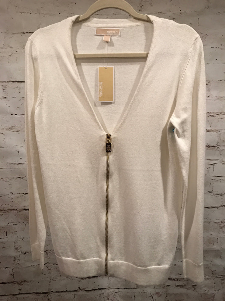 IVORY ZIP UP CARDIGAN $89 (NEW)