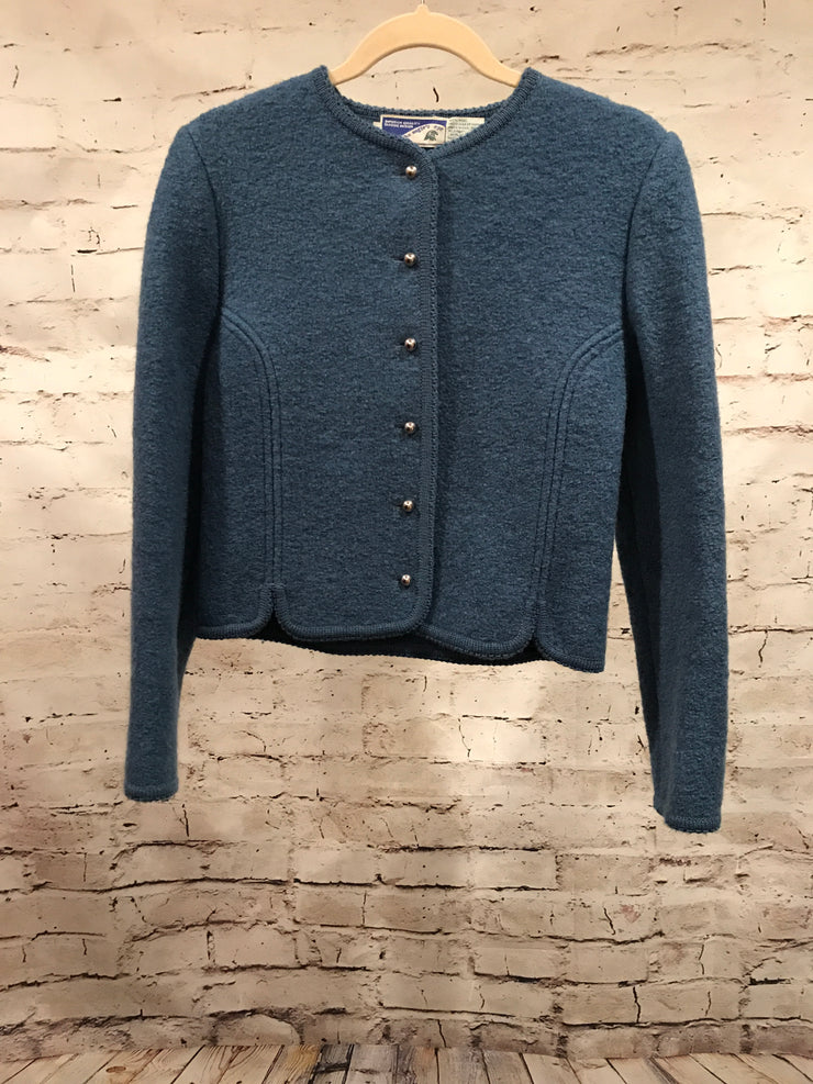 BLUE 100% WOOL JACKET -VINTAGE