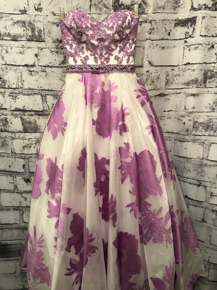 PURPLE/WHITE FLORAL PRINCESS