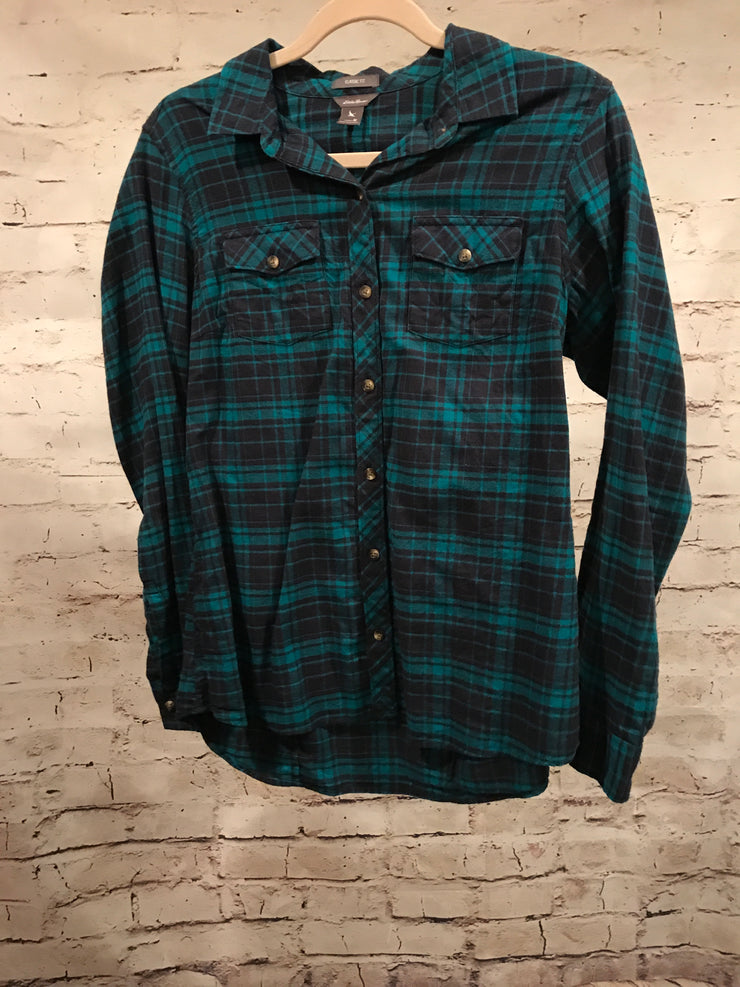 GREEN/BLACK FLANNEL