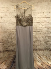 NEW - GRAY LONG EVENING GOWN