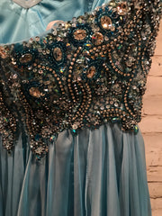 LT. BLUE LONG EVENING GOWN