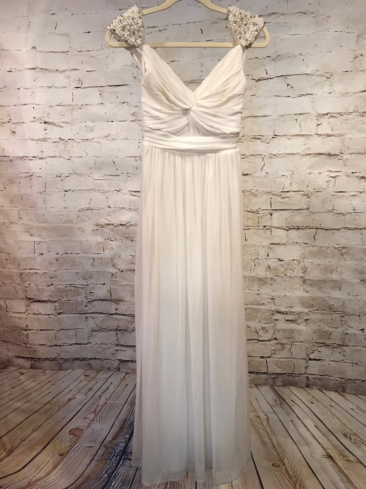 IVORY LONG EVENING GOWN