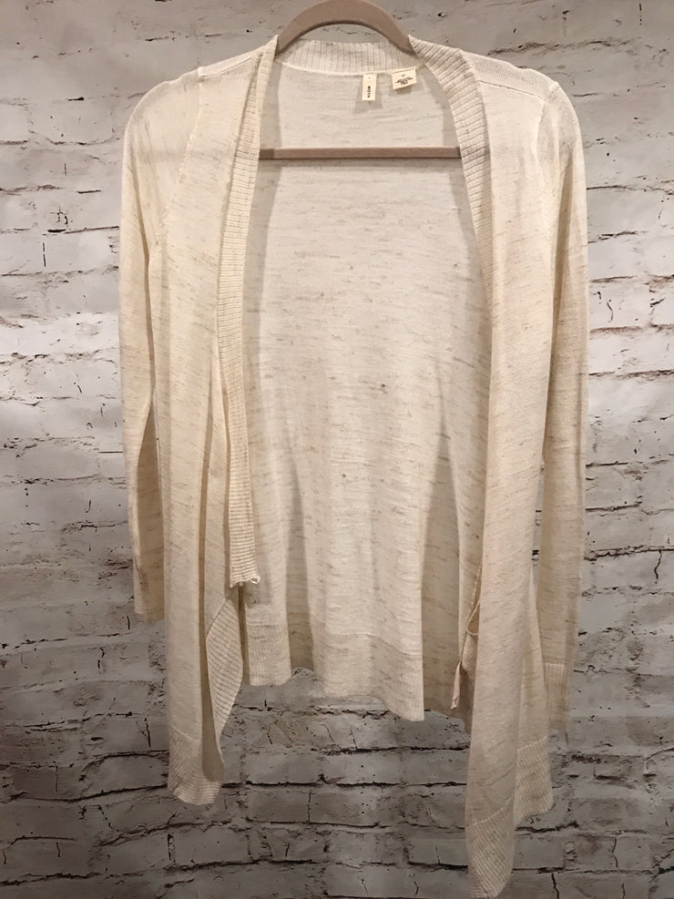 TAN OPEN CARDIGAN BY ANTHROPOLOGIE