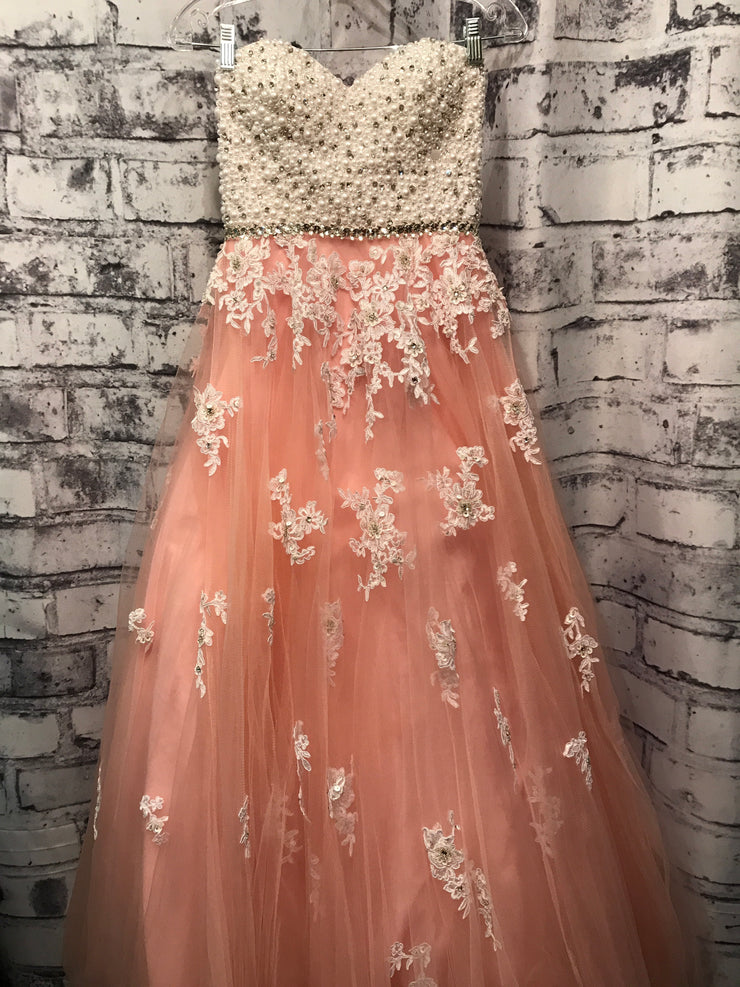 LIGHT PINK/WHITE PRINCESS GOWN