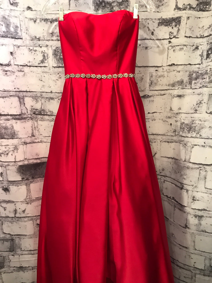 RED TAFETTA PRINCESS GOWN