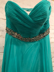 NEW - GREEN LONG EVENING GOWN