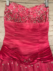 PINK A LINE PRINCESS GOWN