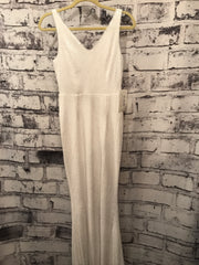 NEW - WHITE SEQUIN LONG GOWN