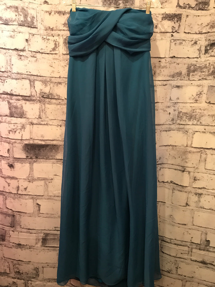 TURQUOISE LONG EVENING GOWN