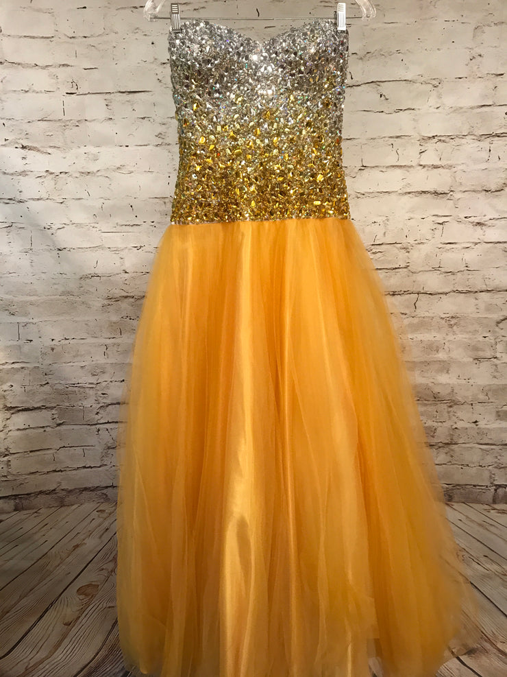 YELLOW PRINCESS GOWN