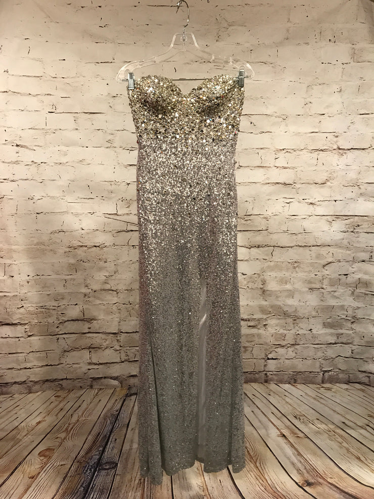 SILVER FULL BEADED DRESS (NEW)