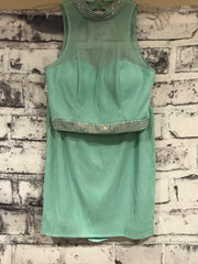 LIGHT GREEN 2 PIECE SHORT DRES