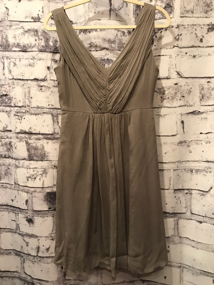 GRAY SILK DRESS (NEW)