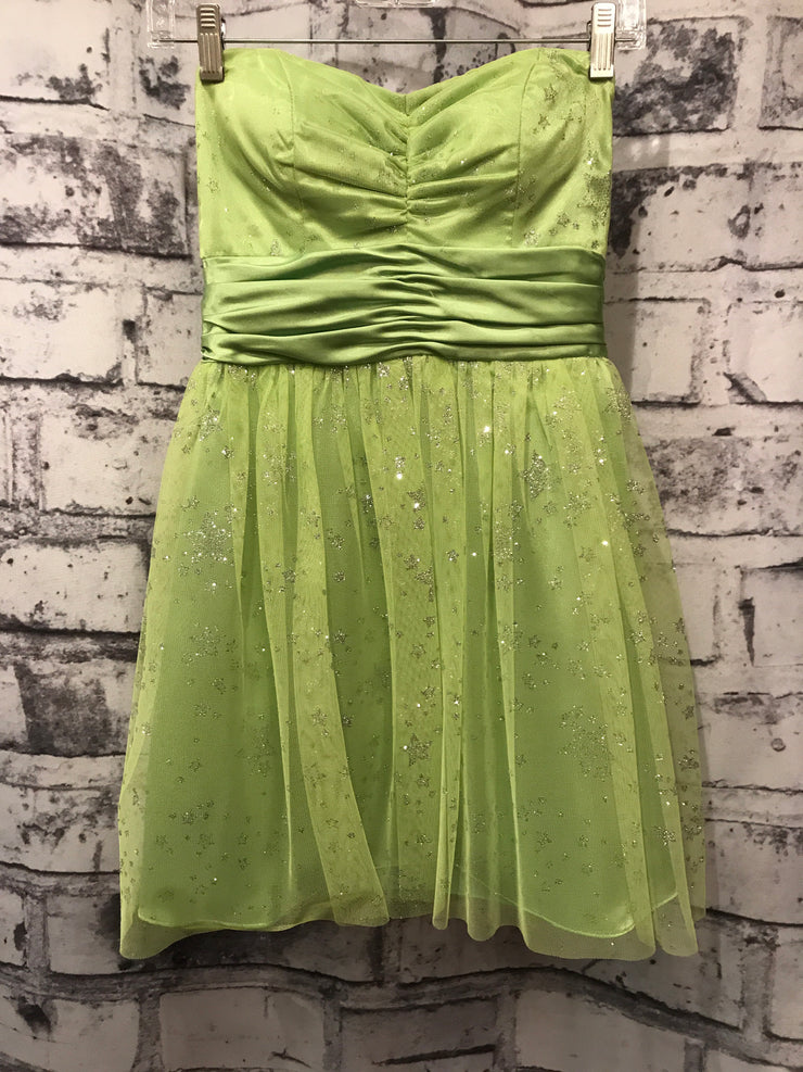 LIME GREEN SHORT POOFY DRESS