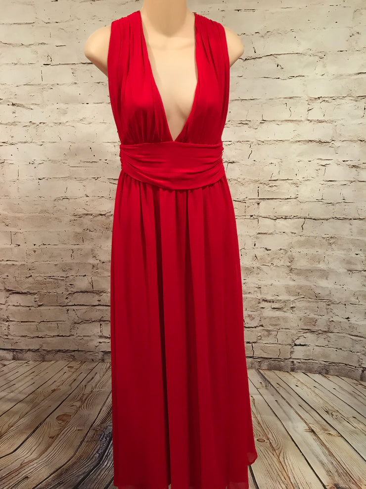 RED LONG EVENING GOWN * *