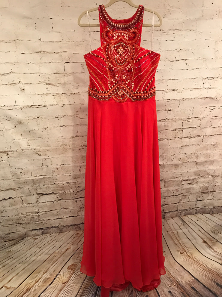 CORAL LONG EVENING GOWN (NEW)