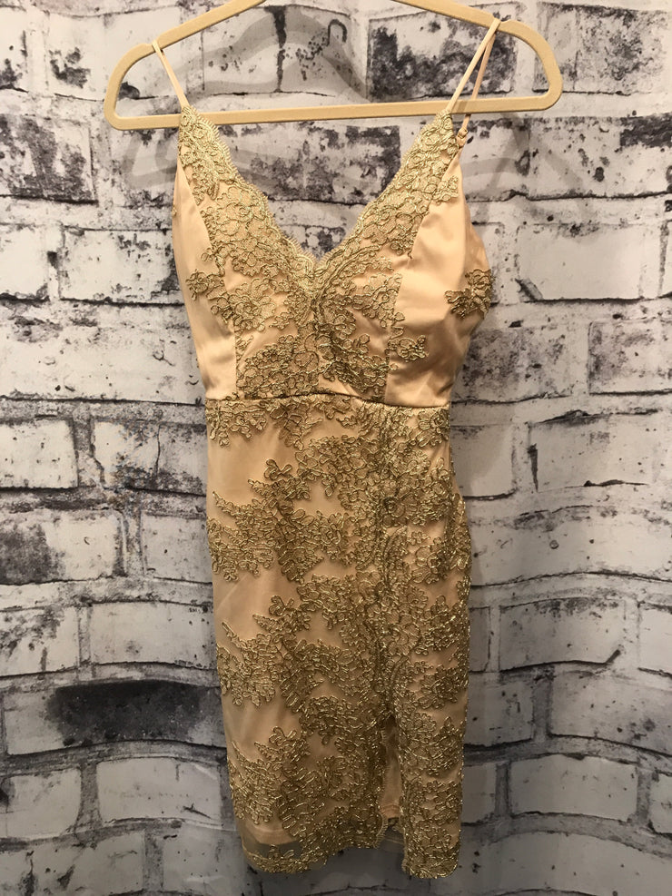 GOLD SHORT DRESS