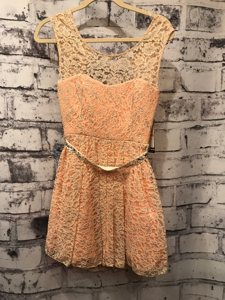 PEACH LACE DRESS (NEW)