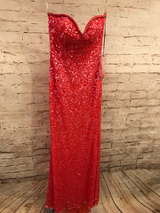 NEW - CORAL SEQUIN LONG DRESS